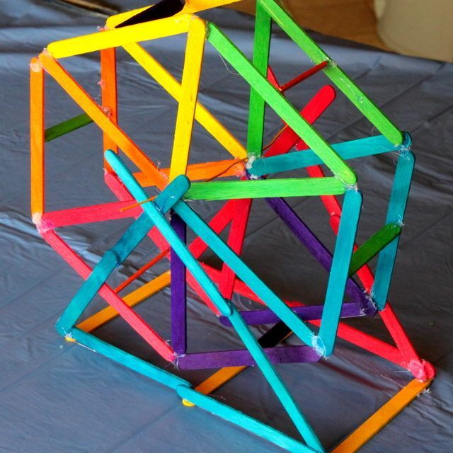 Popsicle Sticks Ferris Wheel
